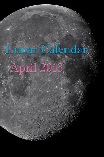 Lunar Calendar - April 2013