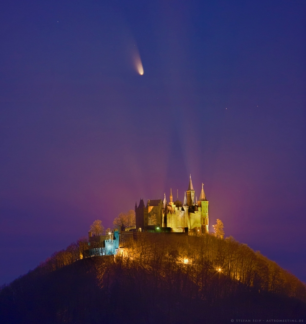 Comet C/2011 L4 PanSTARRS and Castle Hohenzollern Germany.