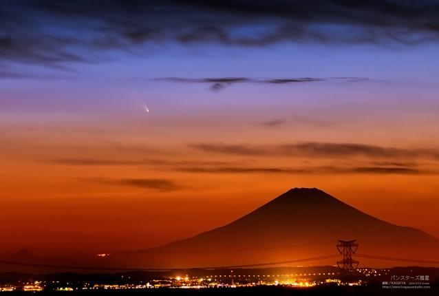 Comet C/2011 L4 PanSTARRS and Mt. Fuji Japan.