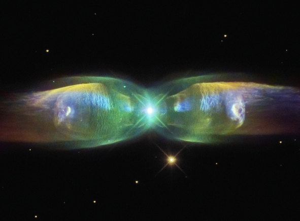 THE BRILLIANT WINGS OF A COSMIC BUTTERFLY.