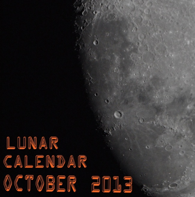 LUNAR CALENDAR FOR OCTOBER 2013.