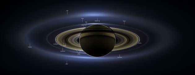 NASA JPL RELEASES FULL MOSAIC OF SATURN FROM THE DAY THE EARTH SMILED.