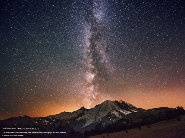 MT. RAINIER'S MILKY WAY GALAXY.