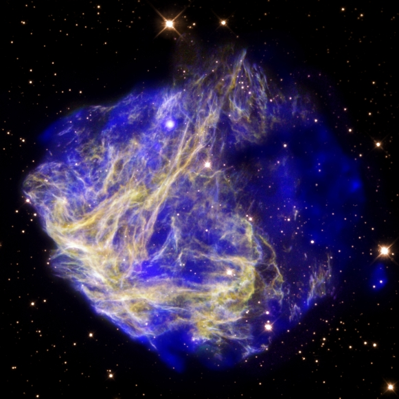 SUPERNOVA REMNANT N49 IN THE LARGE MEGELLANIC CLOUD.