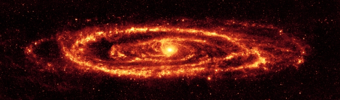 INFRARED ANDROMEDA VIA THE SPITZER SPACE TELESCOPE