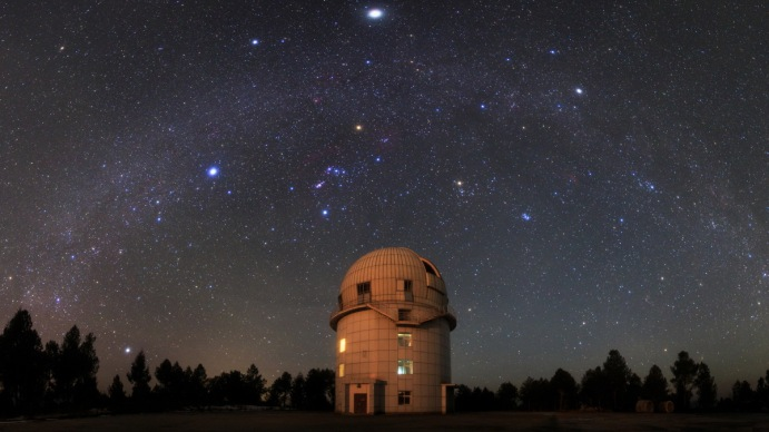 MILKY WAY OVER YUNNAN ASTRONOMICAL OBSERVATORY