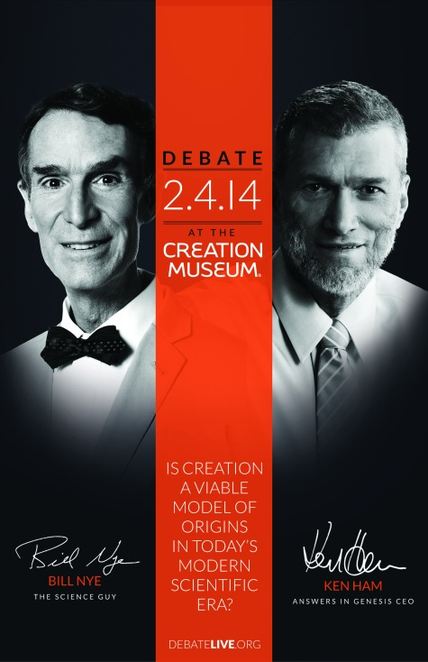 Bill Nye vs. Ken Ham:  Evolution vs. Creation