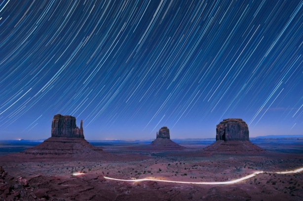 STARTRAILS OVER MONUMENT VALLEY