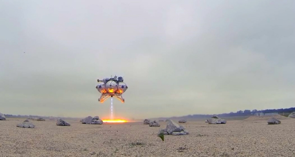 "MORPHEUS LANDER READY FOR FREE FLIGHT 9 ""FF9."""