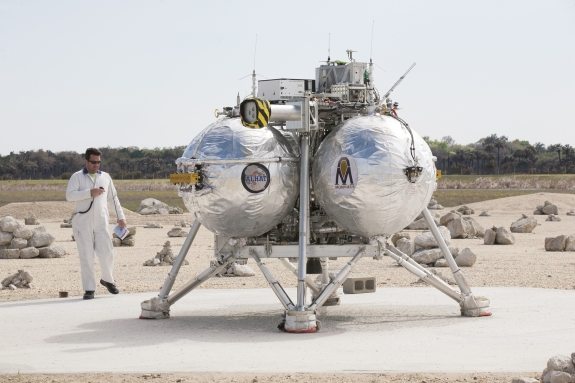 "MORPHEUS LANDER READY FOR FREE FLIGHT 10 ""FF10."""