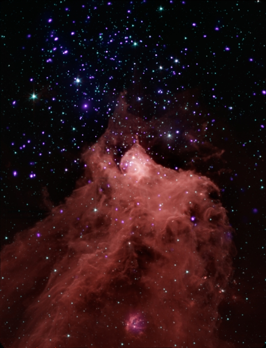 CHANDRA & SPITZER TEAM UP TO CAPTURE STAR FORMATION IN CEPHEUS B