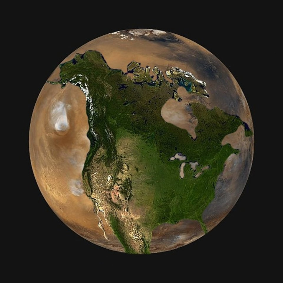 mars size compared to other planets - photo #20