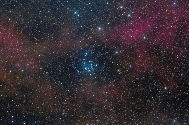 NGC 2547 is a southern open cluster in Vela, discovered by Abbe Lacaille in 1751-1752 from South Africa.
