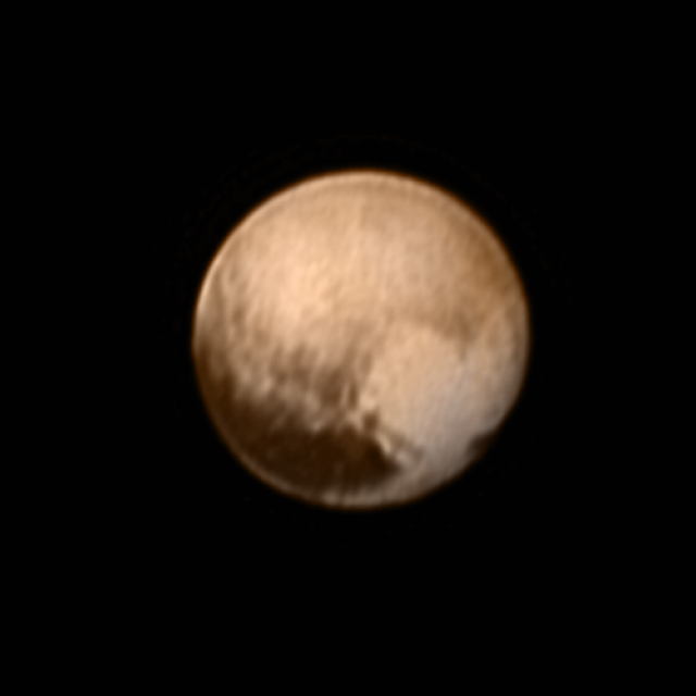 Pluto's Heart, captured on July 8, 2015 from roughly 5 million mi. (8 million km) away.