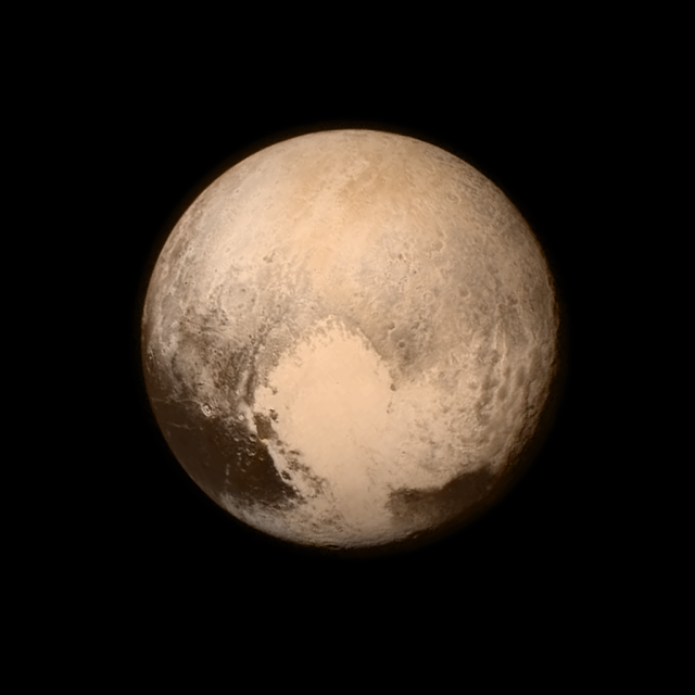Taken on July 13, 2015 from a distance of 476,000 mi (768,000 km) by New Horizons.