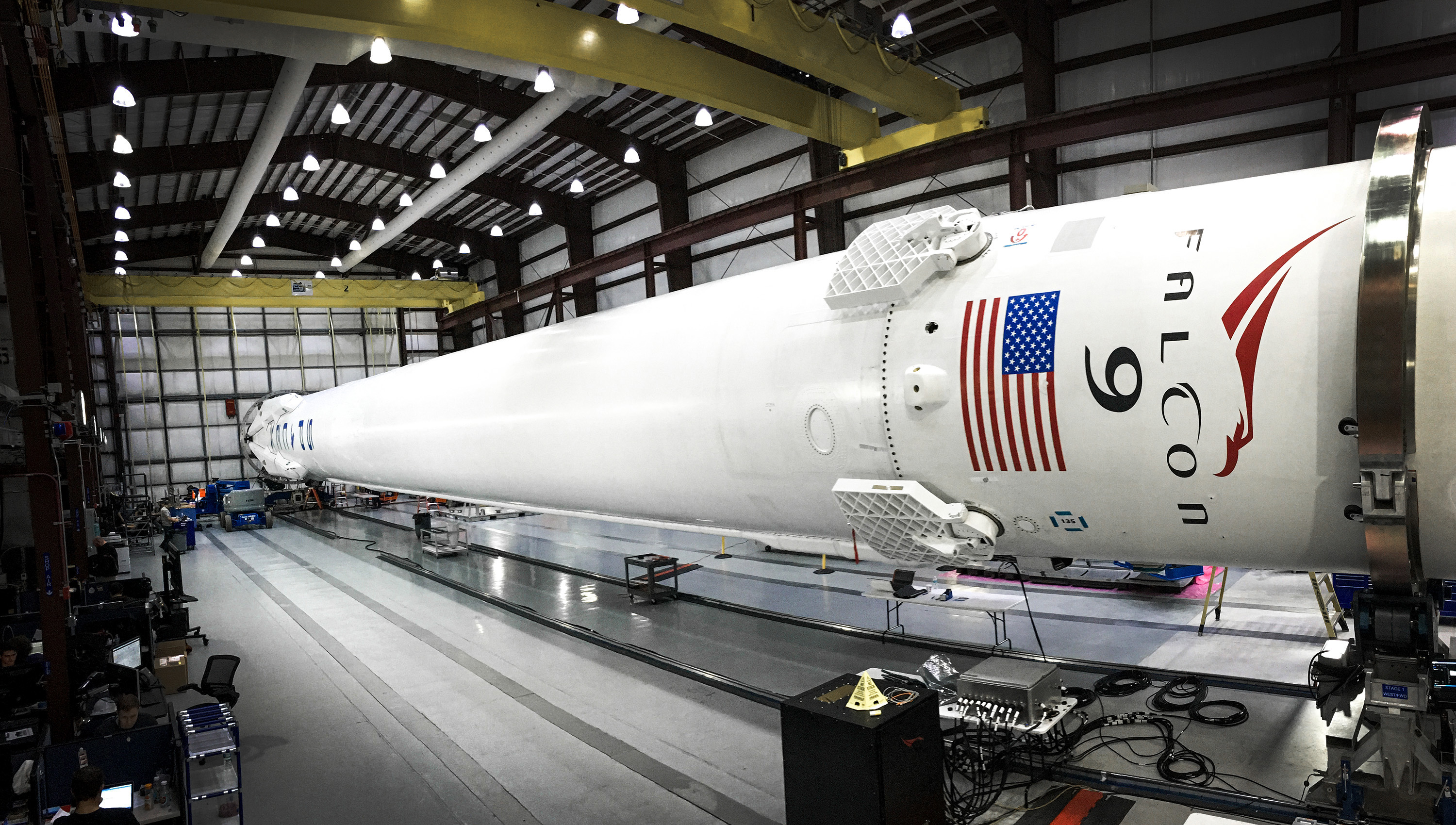 note that those are the old old fins from falcon 9 v1 1 the previous generation fins