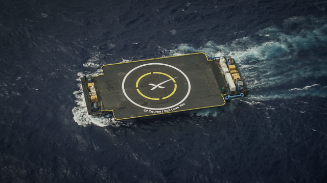 "SpaceX's East Coast Autonymous Spaceport Drone Ship (ASDS) ""Of Course I Still Love You (OCISLY): SpaceX image."